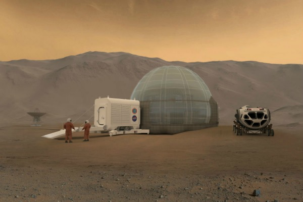 The unusual home of choice on Mars? Igloos
