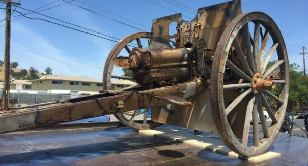 Police recover priceless stolen WWI-era cannon