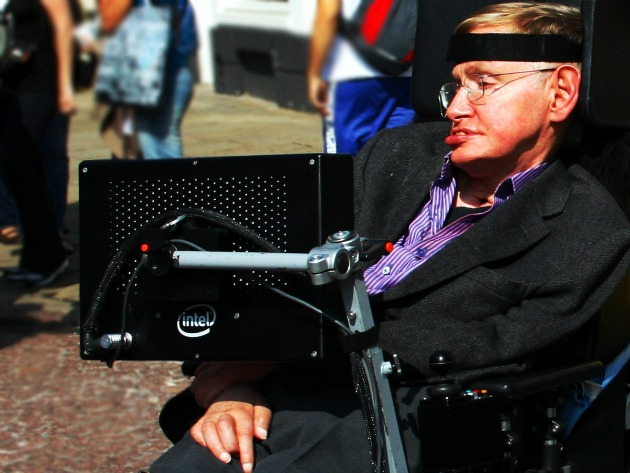 Stephen Hawking caused Cambridge University to crash