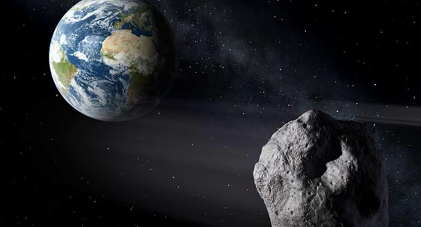Massive asteroid blasts near Earth