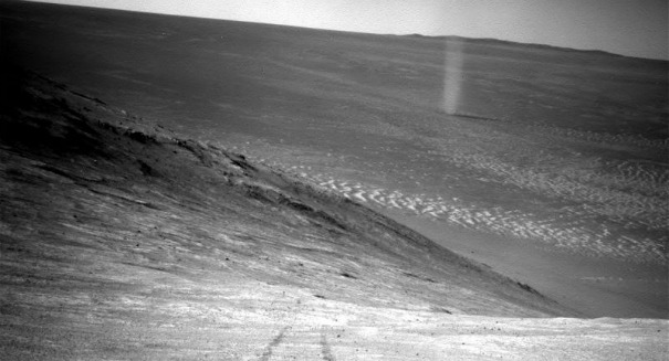 NASA scientists stunned by epic dust devil on Mars